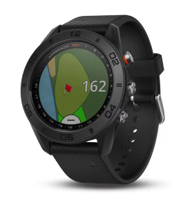 Approach S60 Black GPS Golf watch with black silicone band