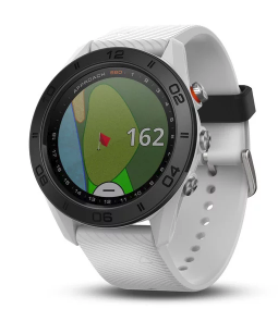 Approach S60 White GPS golf watch with white silicone band