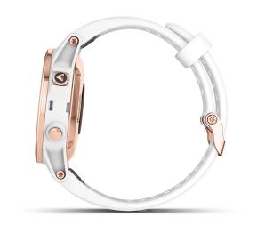 Fenix 5s Plus Sapphire White Rose Gold w/White Band