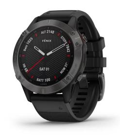 Fenix 6 Sapphire Carbon Gray DLC with Black Band Pro