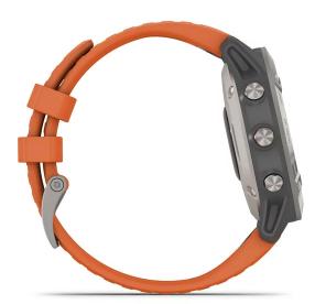 Fenix 6 Sapphire Titanium with Ember Orange Band Sapphire