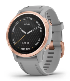 Fenix 6S Sapphire Rose Gold with Powder Gray Band