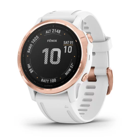 Fenix 6S Pro Rose Gold with White Band Pro