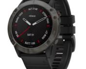 Fenix 6x Carbon Gray DLC & Black Band Sapphire
