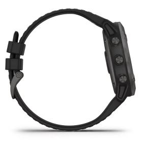 Fenix 6x Titanium Carbon Gray DLC Black Band Pro Solar