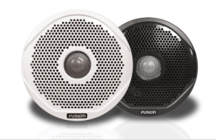 MS-FR6021 True Marine Speaker Pair White/Black Glilles