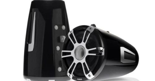 "8.8"" 330 Watt Coaxial Wake Tower Marine Speakers with LEDs"
